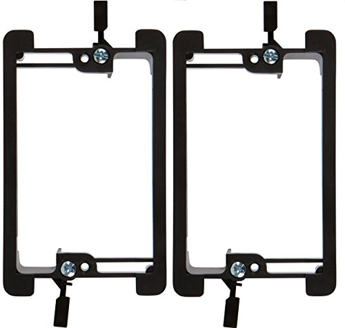 1 Single Speaker - Buyer's Point Single Gang Low Voltage Mounting Bracket Device (1 Gang, 2 Pack), for Telephone Wires, Network Cables, HDMI, Coaxial, Speaker Cables (2)