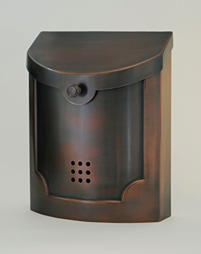 (Wall Mounted Mailbox Finish: Antique Copper Plated, Size:)