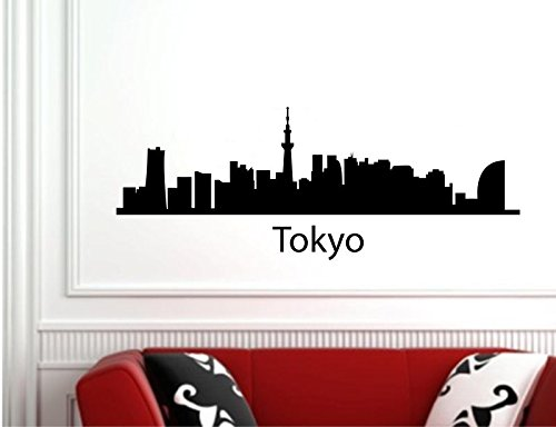 Tokyo Japan City Skyline Vinyl Wall Decals Quotes Sayings Words Art Decor Lettering Vinyl Wall Art Inspirational Uplifting