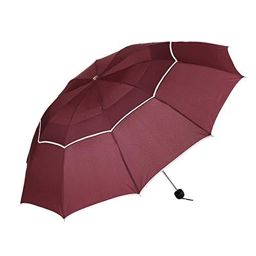 Doble Golf Paraguas Lluvia Mujeres a Prueba de Viento Grandes ...
