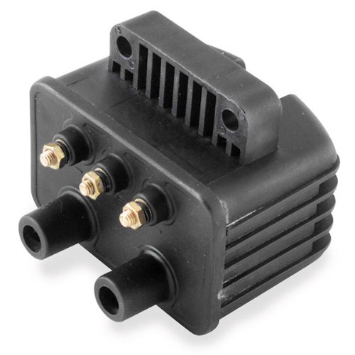 Single Fire Dual Coil - Twin Power Black Ignition Coil for Harley Davidson 1980-99 Big Twin models with