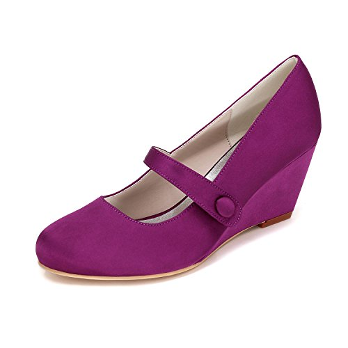 L@YC Women Slip Wedding Shoes Customized 9140-03 Round Tie with Multi-Color Autumn Winter Purple 0t4xUfAg