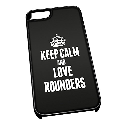 Nero cover per iPhone 5/5S 1871 nero Keep Calm and Love Rounders