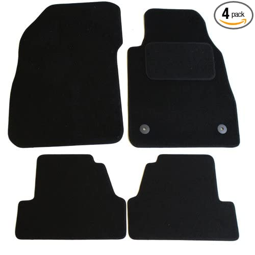 JVL Fully Tailored Car Mats 4 Pieces Black