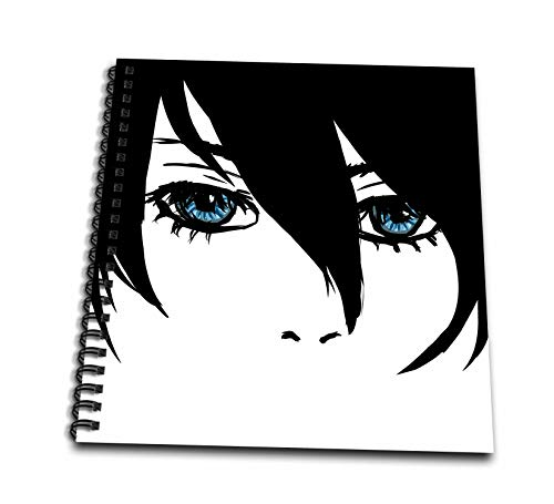 (3dRose PS Creations - Cool Face by CAM Anime girl - Memory Book 12 x 12 inch (db_130509_2) )