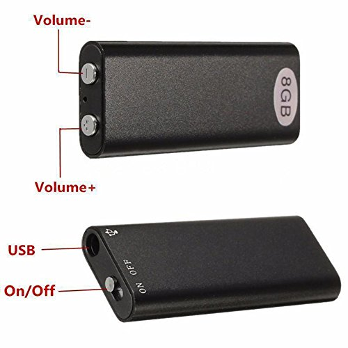 Phoneix USB 8GB Digital Mini Audio Voice Recorder Dictaphone MP3 Player Black