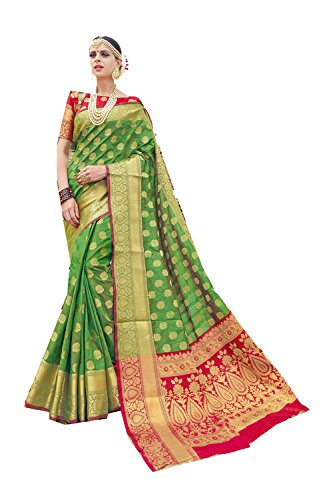 Asmafashion Store Indian Sarees for Women Wedding Designer Party Wear Traditional Green Saree. by Asmafashion Store