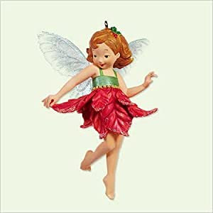 POINSETTIA FAIRY 2005 Hallmark Keepsake Ornament First in Fairy Messengers Series QX2145