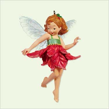 POINSETTIA FAIRY 2005 Hallmark Keepsake Ornament First in...