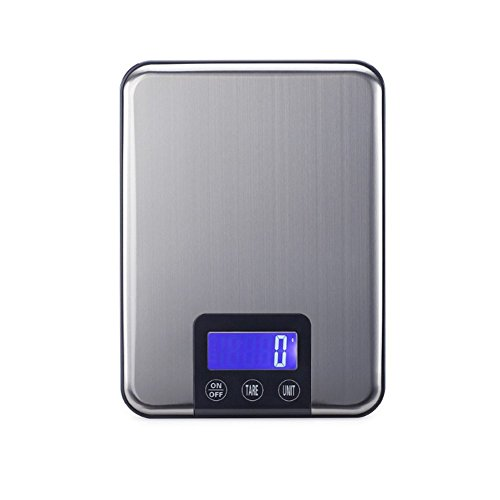 Báscula Digital Para Cocina 15 Kg Peso Grande Para La Dieta De Alimentos Báscula Electrónica Delgada De Acero Inoxidable...