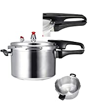 Pressure cooker, 3/4 / 5L aluminum alloy kitchen explosion-proof pressure cooker, suitable for gas stove, induction cooker, kitchen energy saving and safe cooking tool