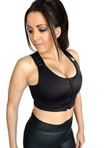 Brilliant Contours Post Surgical Comfort Compression Sports Bra: Black Dragonfly - S from Brilliant Contours