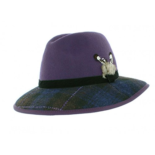 6f69f4dfc69 Failsworth Felt and Tweed Trilby Fedora (Purple): Amazon.co.uk: Clothing