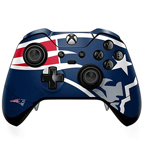 Skinit New England Patriots Large Logo Xbox One Elite Controller Skin - Officially Licensed NFL Gaming Decal - Ultra Thin, Lightweight Vinyl Decal Protection