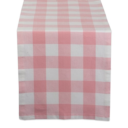 DII Cotton Buffalo Check Table Runner for Family Dinners or Gatherings, Indoor or Outdoor Parties, & Everyday Use (14x108