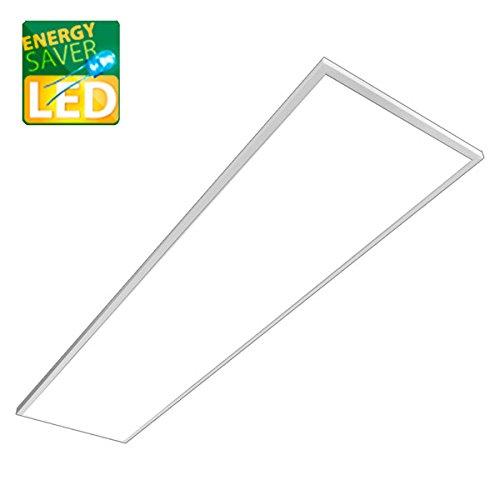 LED Panel Pendel, LAURA weiß, 1200x300mm, 36W LED Bürolampe als Pendelleuchte, warmweiß, Büroleuchten, Deckenleuchte