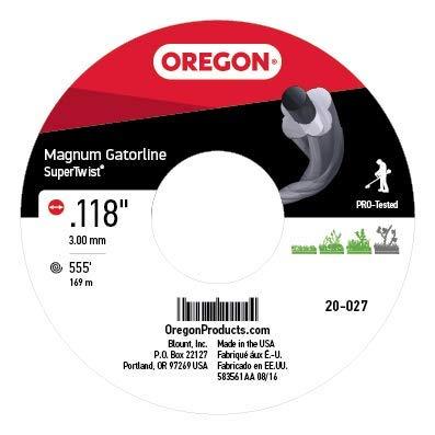 - Oregon 20-027 Super-Twist Magnum Gatorline String Trimmer Line .118-Inch Diameter 3-Pound Spool