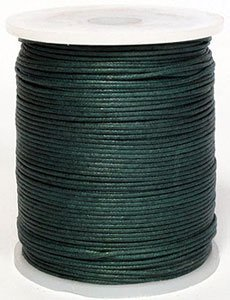 Blue Bird Maine Thread 2mm Muted Olive PolishedBraided Cotton Cord. 100 Meters per Spool. Includes 1 Spool. ()