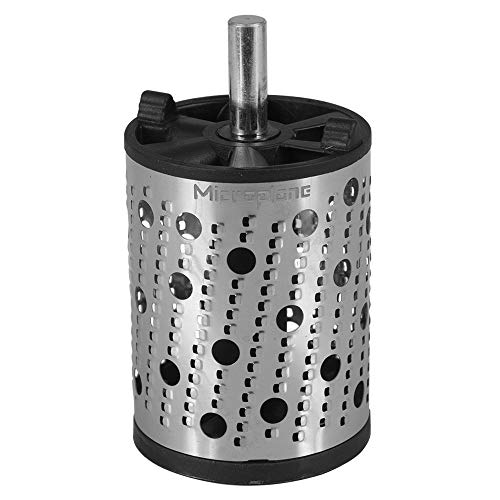 """Microplane 2"""" Rotary Drum Rasp Drill Attachment for Drill Press or Hand Drill - Stainless Steel"""