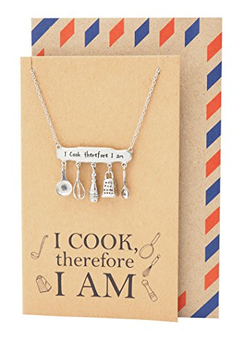 Charm Baking Necklace, Gifts for Mom Dad, Baker Jewelry, Pastry Chef Gifts ()