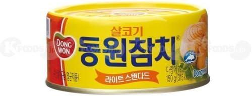 [0912] DONGWON ツナ缶 サラダや鍋ものにオススメ! 1個(150g) [並行輸入品]
