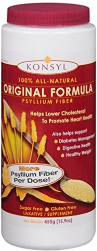 Konsyl Original Formula Psyllium Fiber 15.9 oz (Pack of 6) by Konsyl