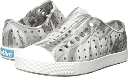 native Kids Marbled Jefferson Water Proof Shoes, Dublin Grey/Shell White/Marble, 5 Medium US Toddler by native (Image #3)