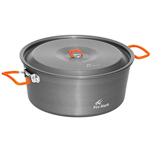 Fire-Maple FMC-C2 Feast Cook 4.4L Portable Pot Outdoor Camping Cooking Picnic Cookware Fire Flat pan 700g