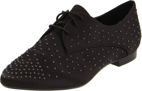 Report Signature Women's Tyler Oxford,Black Satin,9.5 M US by Report Signature