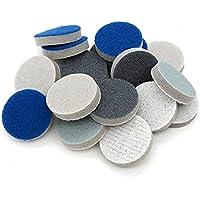 Van hoge kwaliteit 1 inch 25mm ronde spons schuurschuur schuurpapier haak en lus 300-3000 grits voor polijsten en…