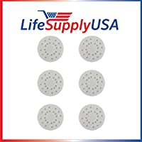 Replacement 6 Pack Anti-Mineral Pads for Air-O-Swiss AOS A451 S450 Air O Swiss by LifeSupplyUSA