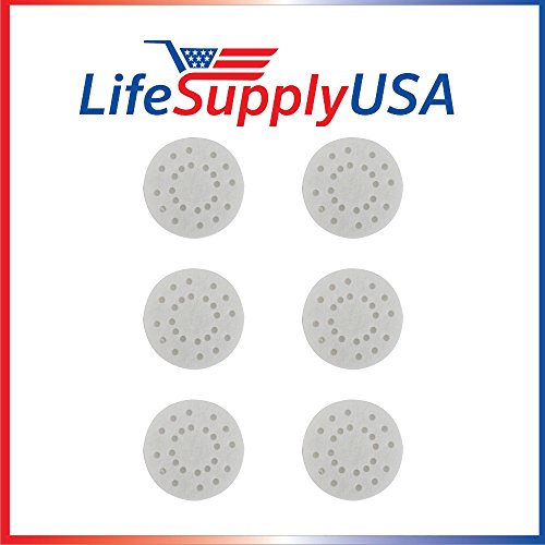 LifeSupplyUSA Replacement 6 Pack Anti-Mineral Pads for Air-O-Swiss AOS A451 S450 Air O Swiss
