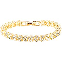 Swyss 925 Sterling Silver Diamond Bracelets Roman Style Bling Chic Charm Bracelet New Hot Fashion