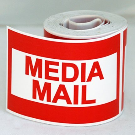 300 2x3 MEDIA MAIL Mailing Shipping Labels Stickers