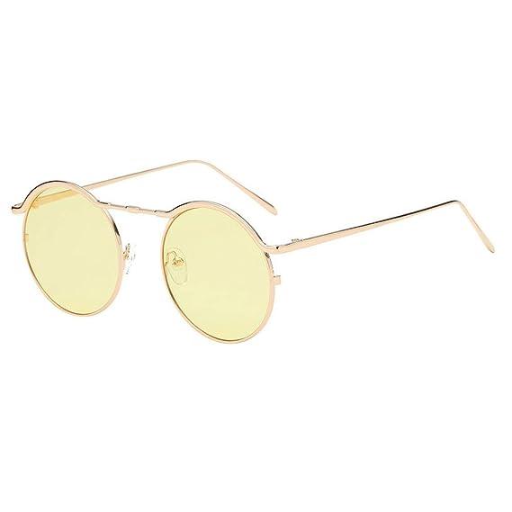VECDY Gafas De Sol Mujeres Unisex Moda Ronda Tonos Acetato ...
