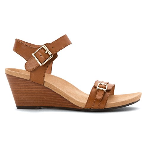 Vionic Womens Leather Sandals Tan 382 Laurie aar6xSq