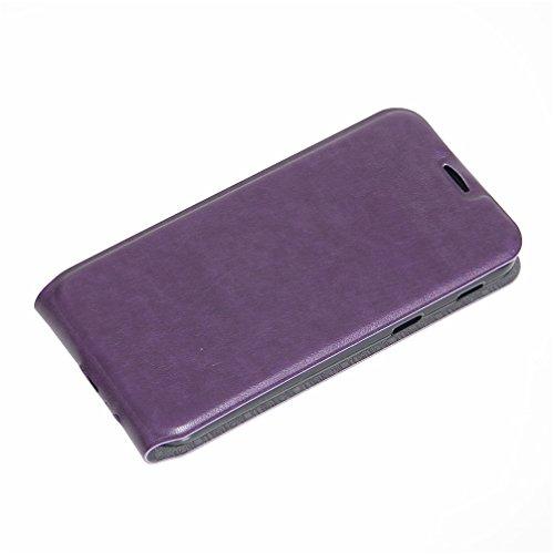 Funda Samsung Galaxy A5(2017),Manyip Caja del teléfono del cuero,Protector de Pantalla de Slim Case Estilo Billetera con Ranuras para Tarjetas, Soporte Plegable, Cierre Magnético E