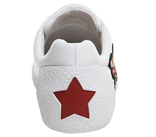Embroidery Ash Trainer 6 Nak White Leather UK AABPwq