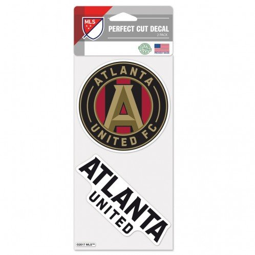 (Wincraft Atlanta United FC Perfect Cut Die Cut Decal - Two 4