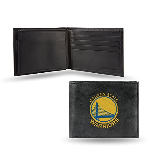 NBA Golden State Warriors Embroidered Leather Billfold Wallet