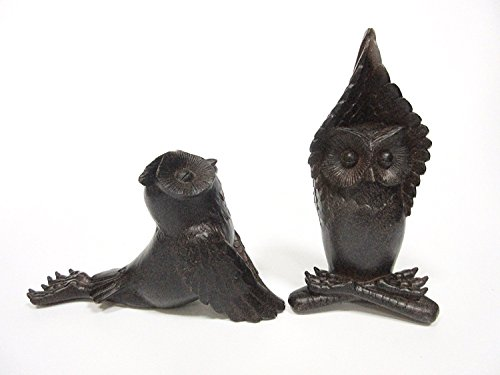 Peace Owl - Pacific Giftware Zen Garden Inner Peace Yoga Owls Set of 2 Figurine Collectible Sculpture Decor 5 inch Tall...