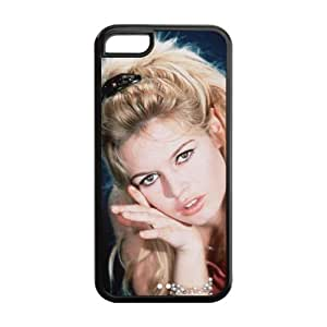 Hollywood Famous Actress Brigitte Bardot Sexy Iphone 5C TPU Back Cover Protective Case