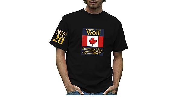 Max-MPH Retro Formula 1 histórico Lobo Racing Grand Prix 100% algodón Camiseta Negro Negro Large: Amazon.es: Ropa y accesorios