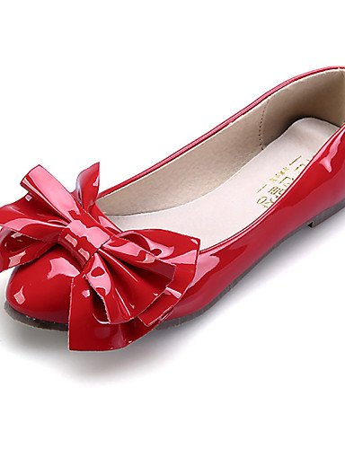 Flats de vestido señaló Toe negro mujer black almendra cerrado us8 cn39 casual talón plano de uk6 zapatos eu39 rojo Toe comodidad PDX rosa 07xqwPSqE