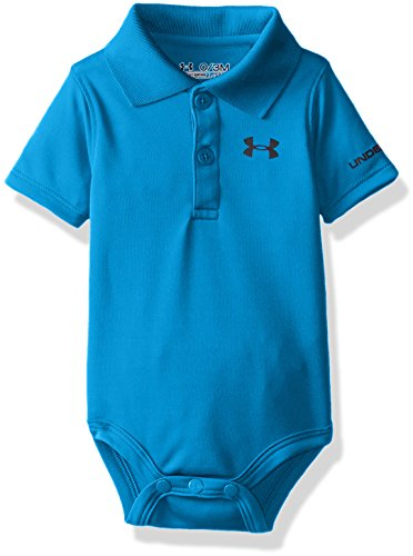 Under Armour Baby Boys' Logo Polo Bodysuit, Pool, 0/3M (Baby Masters Clothes)