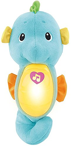 Soothe Gift Set (Fisher-Price Soothe & Glow Seahorse, Blue)