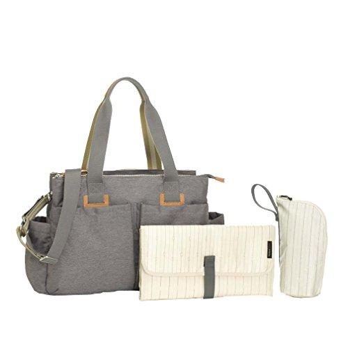 Storksak Shoulder Bag, Grey - Stork Sack Diaper Bags