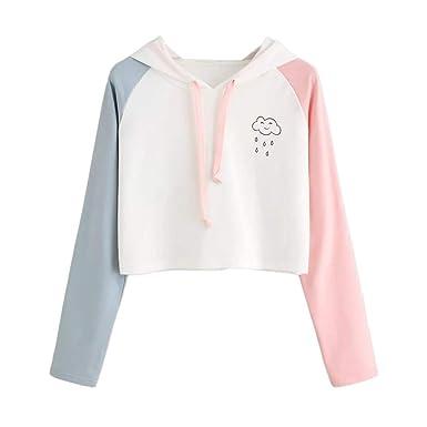 9feee024d ❤️Meilleure Vente! LuckyGirls Mode Femmes Nouveau Automne Hiver Sweat à  Capuche Imprimé Colorblock pour Femme Capuche Blouson Casual Pull ...