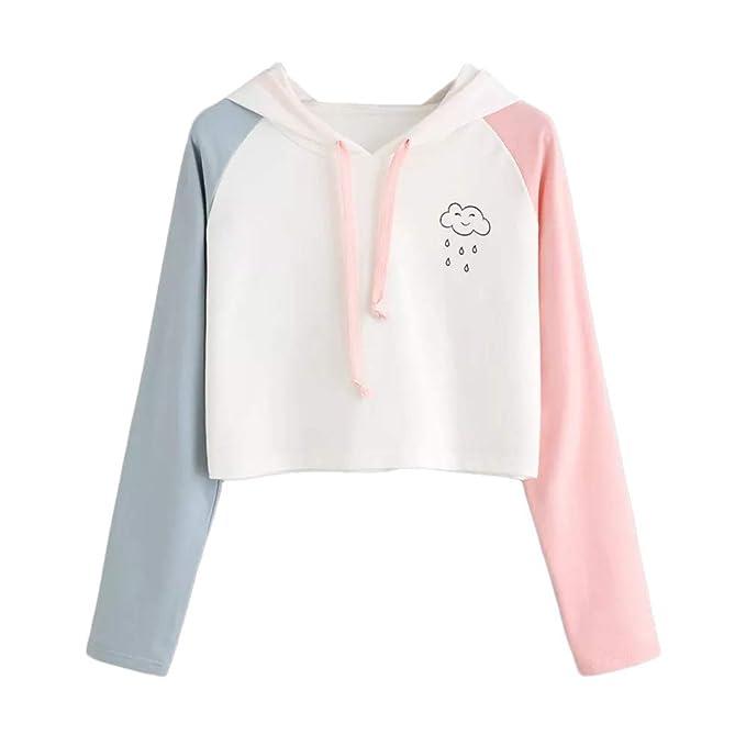 ❤ Sudadera con Capucha para Mujer Sudadera con Capucha de Manga Larga Otoño Blusa Impresión en Nube Blanca Absolute: Amazon.es: Ropa y accesorios