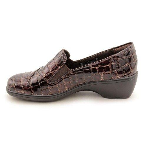Clarks Mujeres Ivy Croco Wedge Zapato De Vestir Marrón Croc Print Sintético